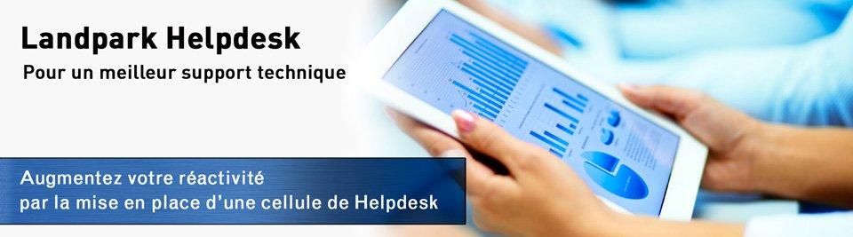 Landpark Helpdesk, augmentez votre réactivité par la mise en place d'une cellule Helpdesk