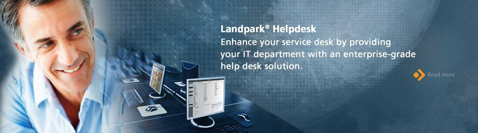 Landpark HelpDesk enhance your service desk by provinding your IT department with an enterprise-grade helpdesk solution.