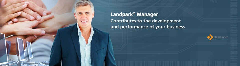 Landpark Manager contributes to the development and performance of your business.