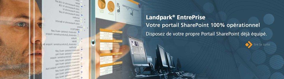 Landpark EntrePrise, disposez de votre Portail SharePoint déjà équipé